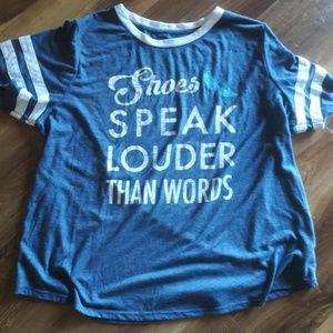 """""""SHOES SPEAK LOUDER THAN WORDS"""" DISNEY TEE"""